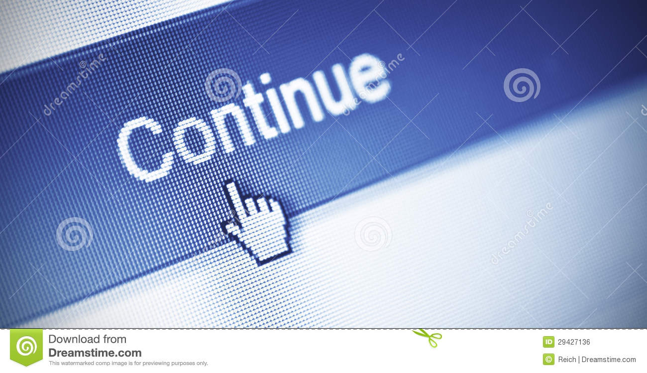 Continue Button Royalty Free Stock Image Image 29427136