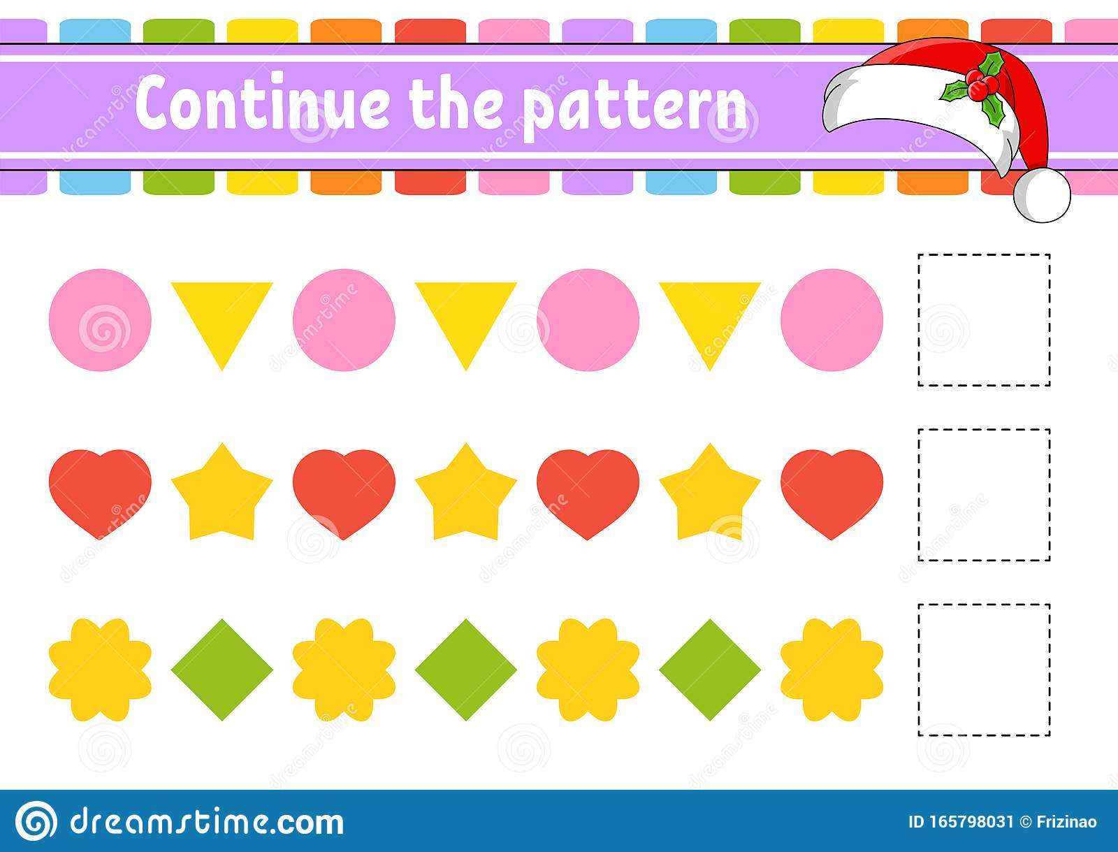 Continue The Pattern Education Developing Worksheet Game