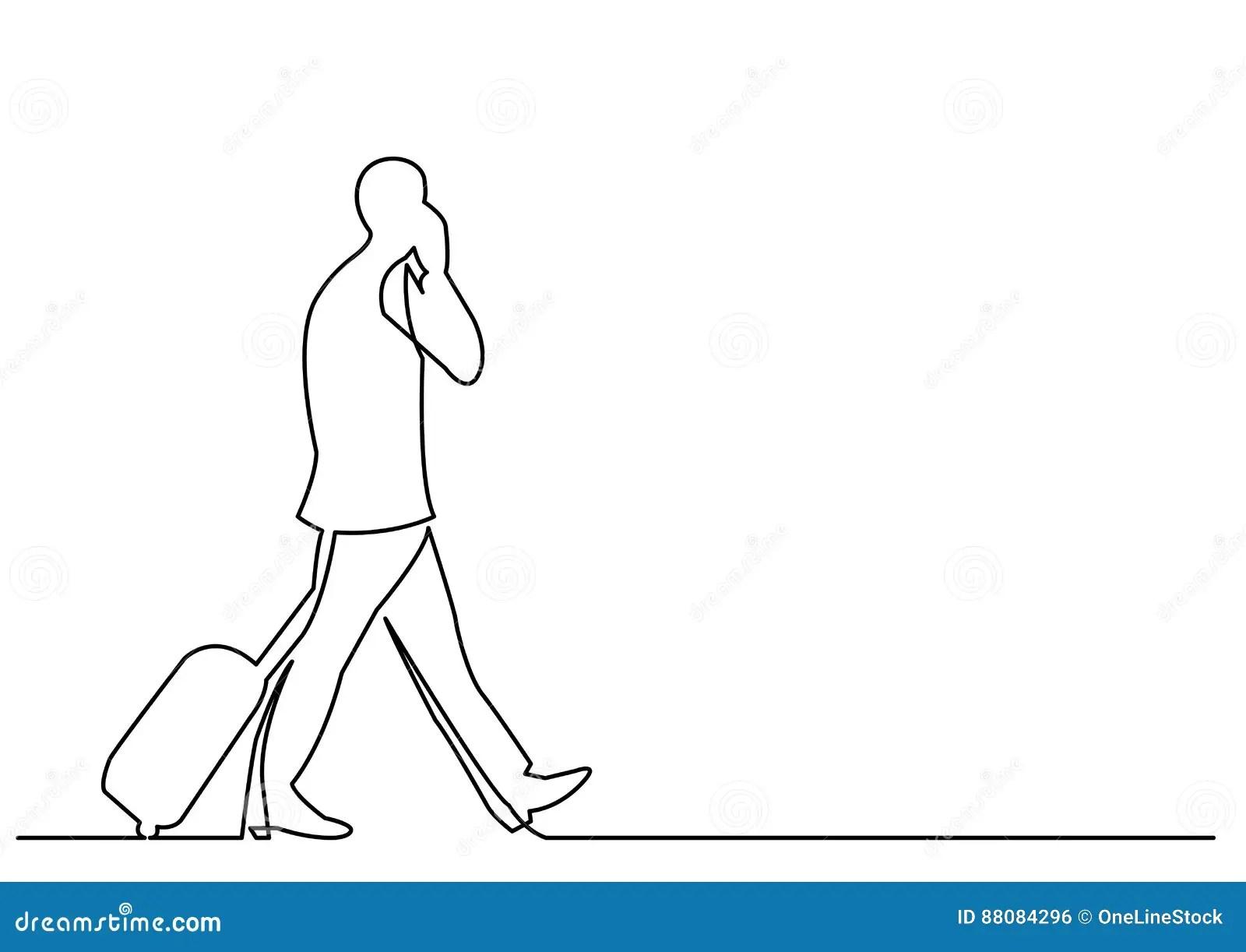 Walking Line Vector