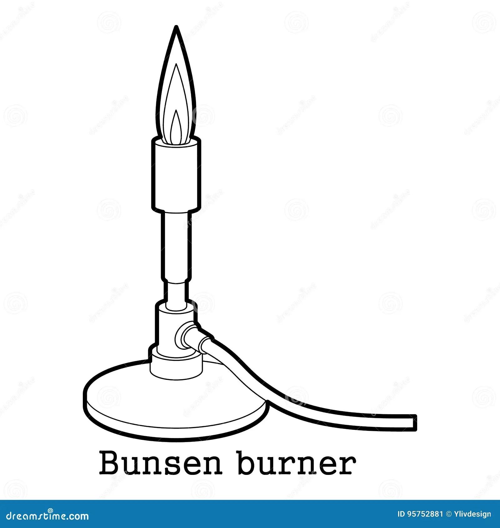 Contour D Icone De Bec Bunsen Illustration De Vecteur