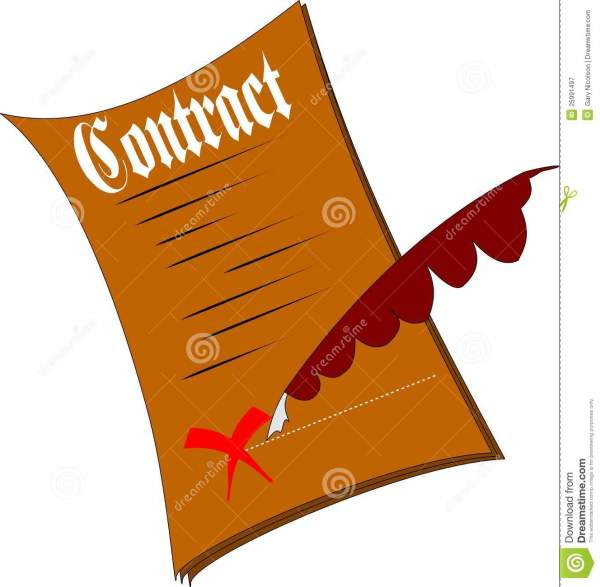 contract royalty free stock