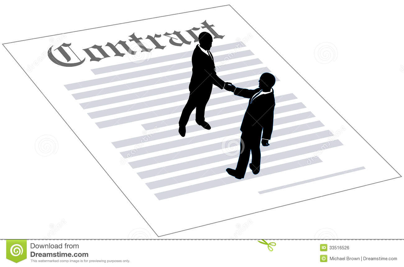 Contract Business People Sign Agreement Royalty Free Stock