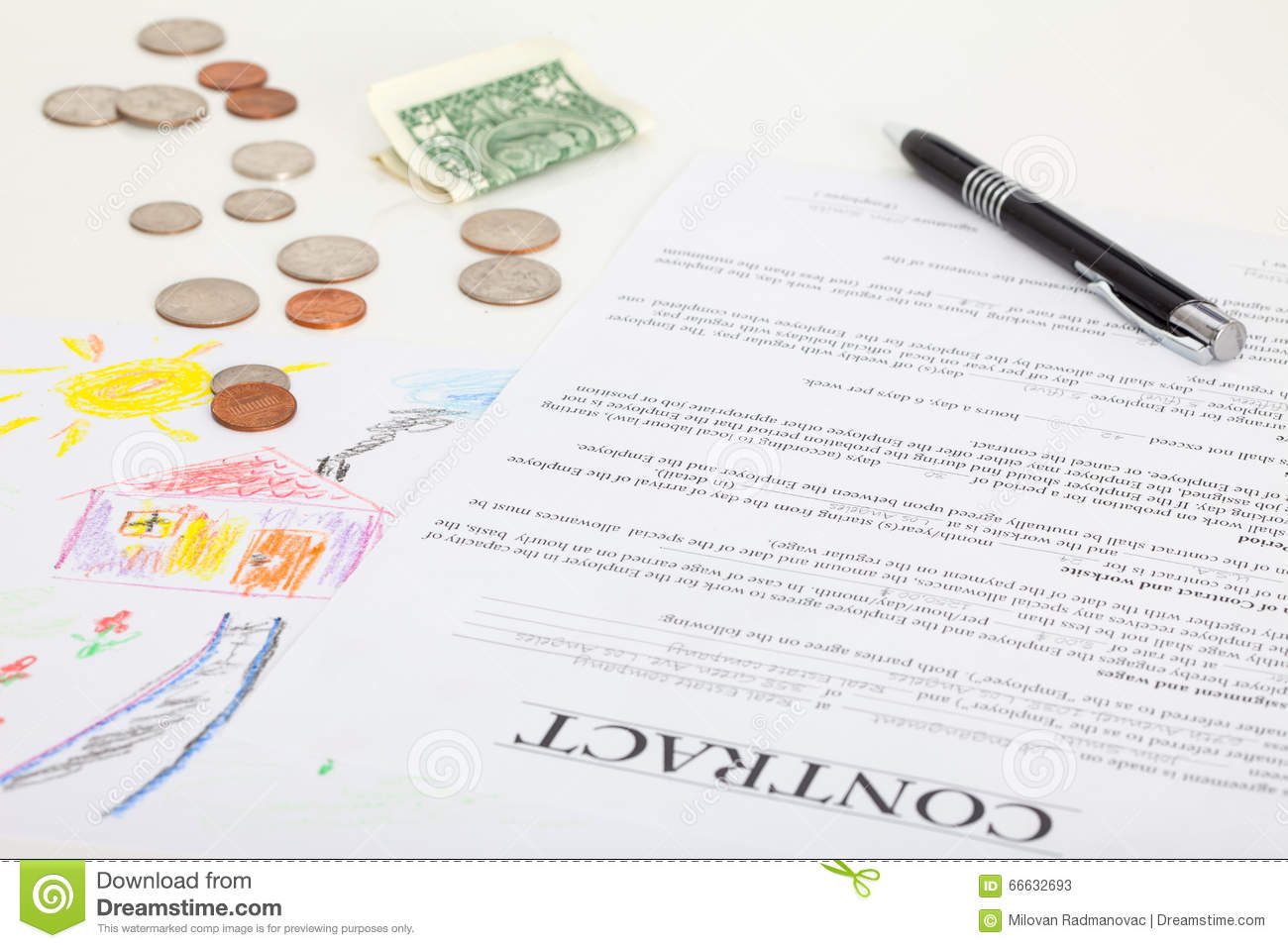 Download Contract Of House Sale Or Mortgage Papers Stock Image - Image Of  Bank, Form