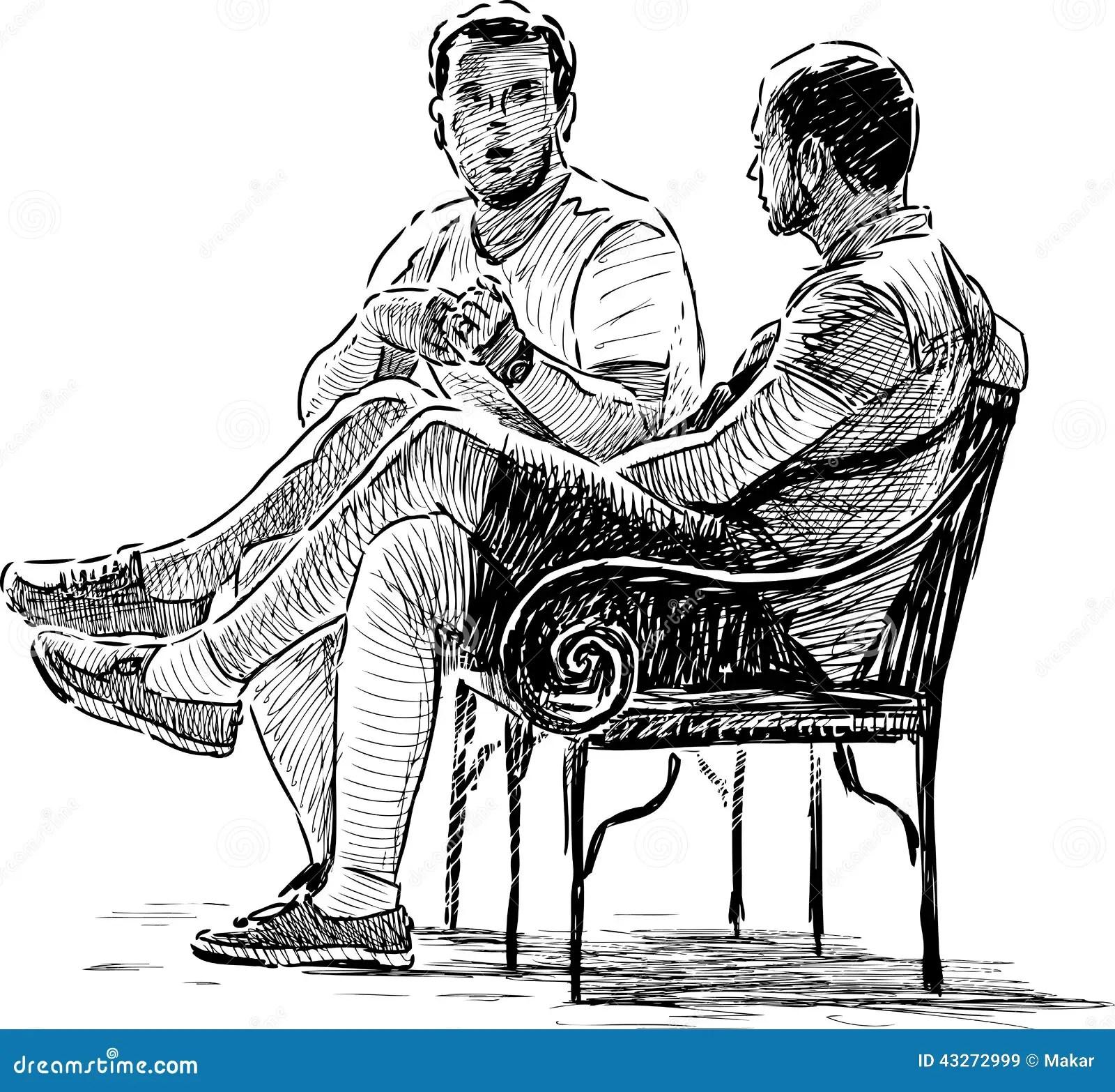 Conversing Men Stock Vector Illustration Of Persons