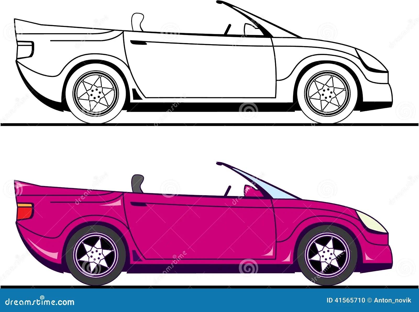 vehicle diagram clip art john deere lt133 wiring convertible stock vector image 41565710