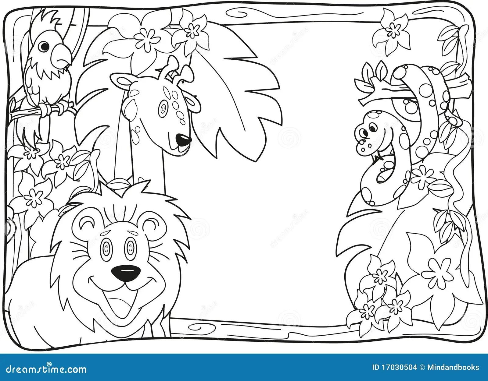 Convite Lineart Da Selva Imagens De Stock