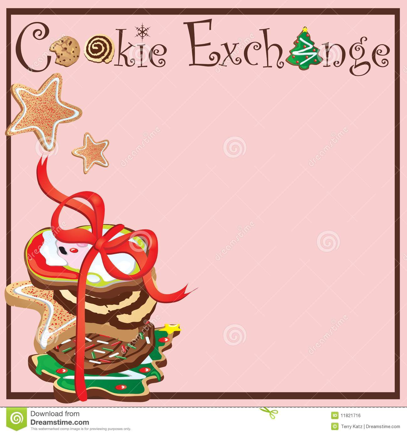 Cookie Exchange Party Stock Vector Image Of Decorated
