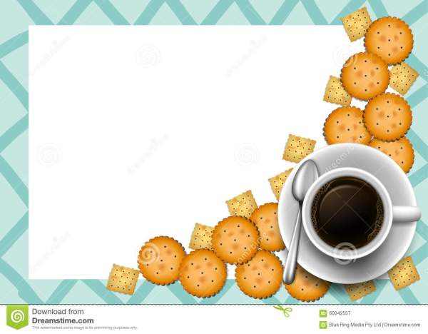 cookies and coffee border stock