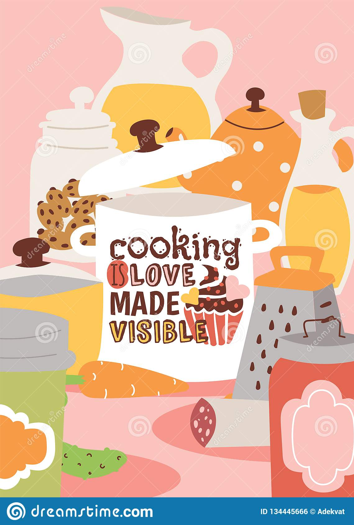 Download Cooking Appliances And Kitchen Utensil Vector Illustration ...