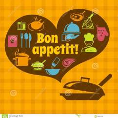 Vintage Posters For Kitchen Distressed Table Cooking Bon Appetit Poster Stock Vector Image 39801232