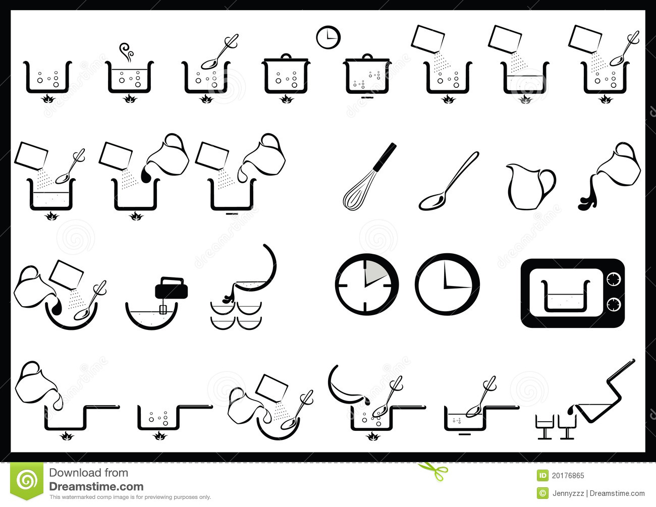 Cooking instructions stock vector. Illustration of