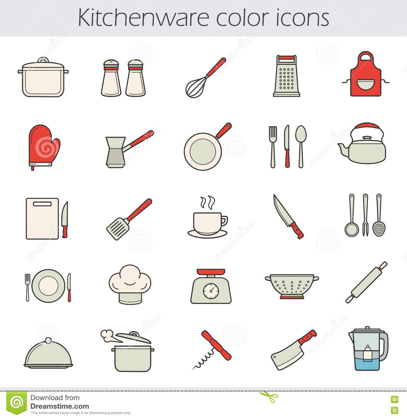 Cooking Instruments Hang On The Wooden Wall Stock Image