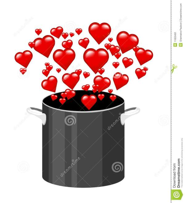 Cooking With Love Stock Illustration. Illustration Of