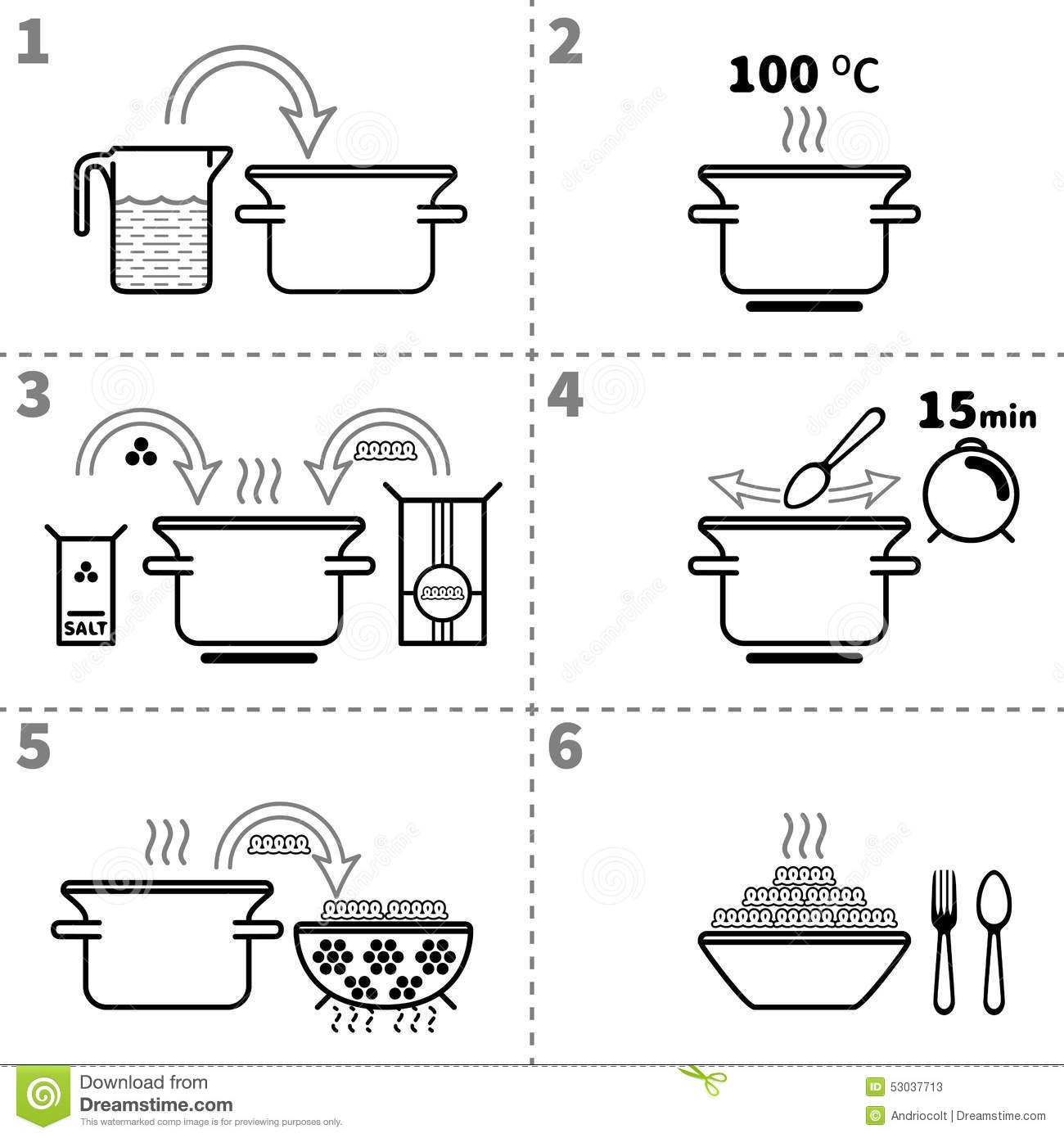 Recipe Infographic For Making Bacon Sandwich Vector