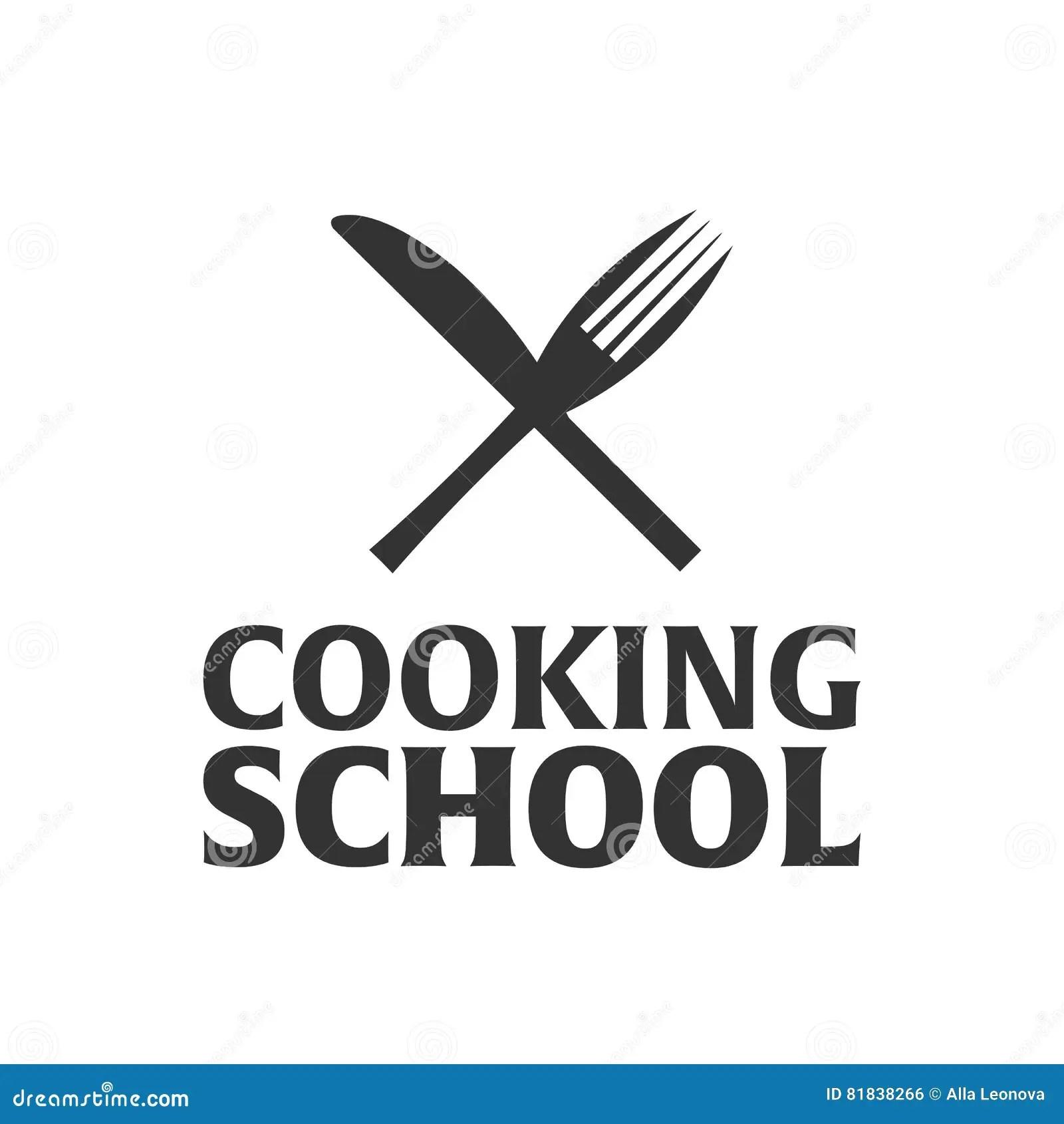 Cooking School Logo. Cooking Academy. Vector Illustration
