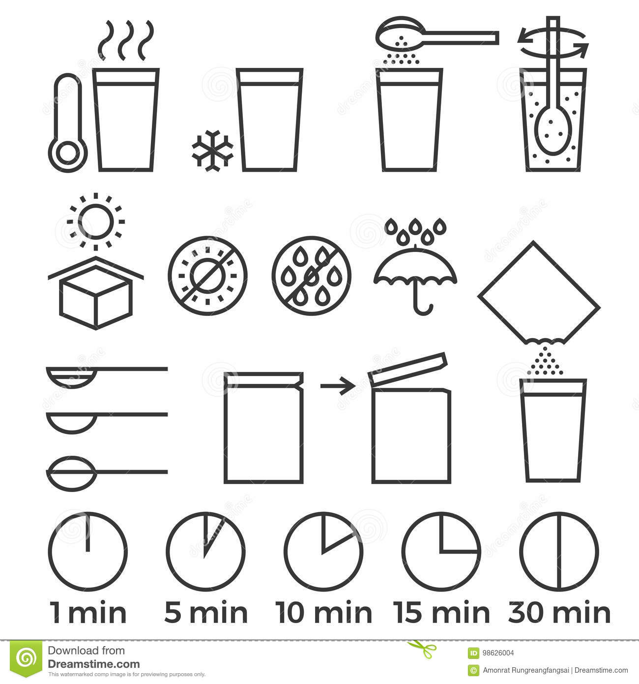 Cooking Sign Instruction For Manual On Packing Stock