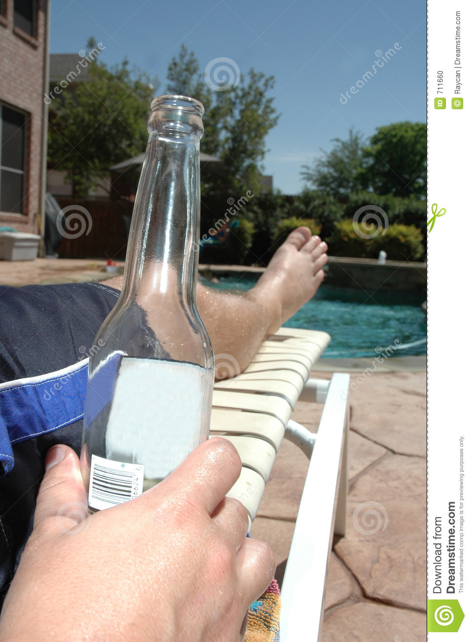 Cool Beer by the Pool stock photo Image of backyard