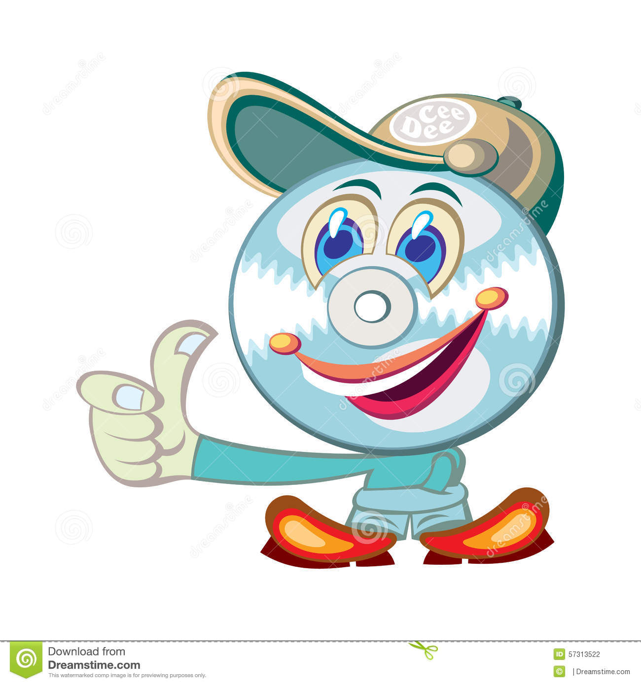 hight resolution of cool cd face cartoon character