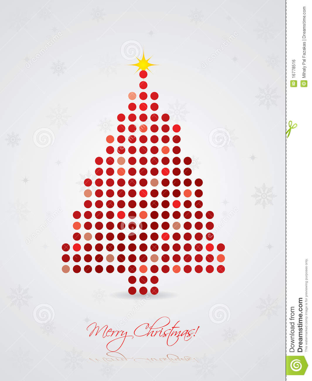 Cool Dotted Christmas Card Stock Vector Image Of Pattern