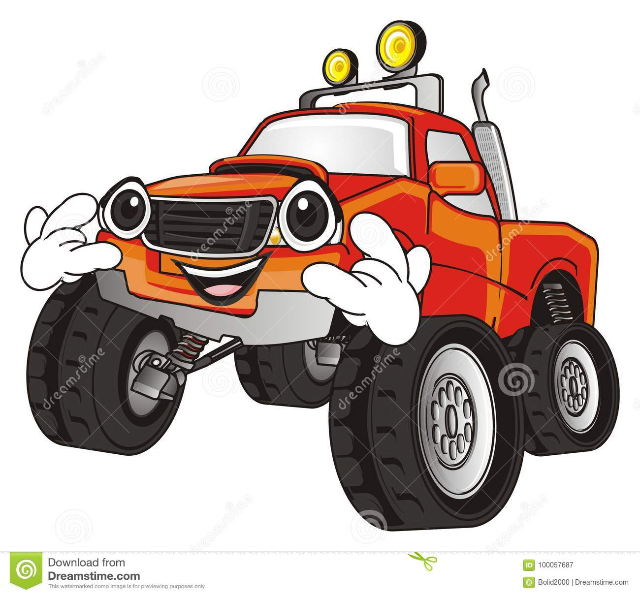 Cool Monster Truck Stock Illustration Illustration Of Racing