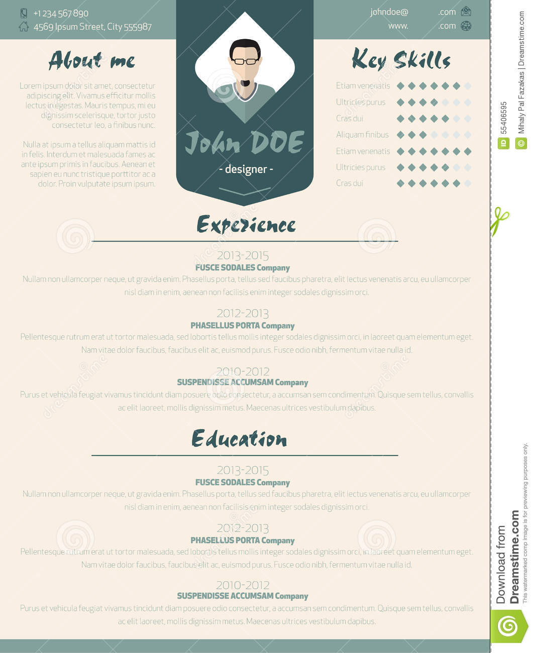 Coolest Resumes Cool New Modern Resume Curriculum Vitae Template With
