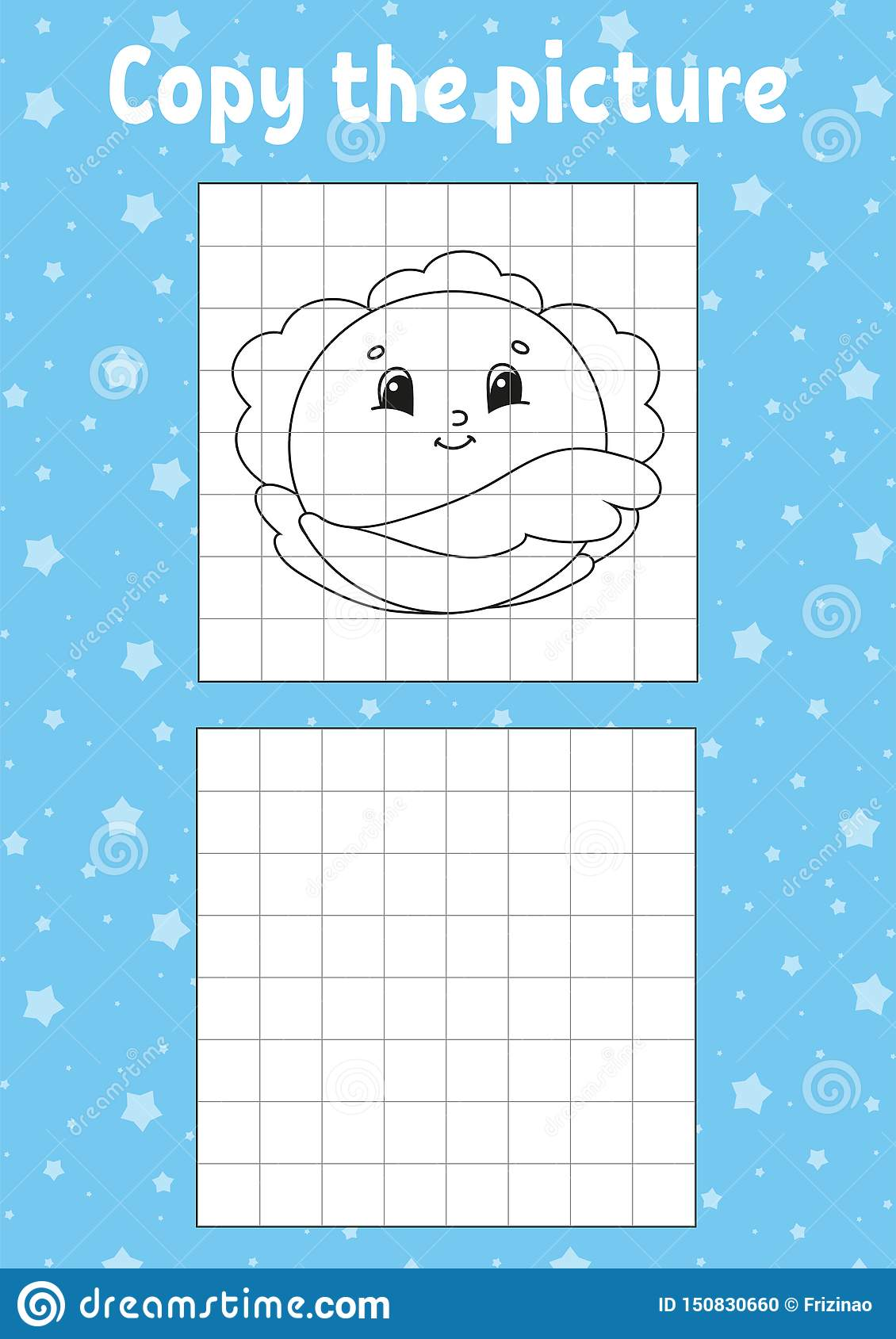 Copy The Picture Coloring Book Pages For Kids Education