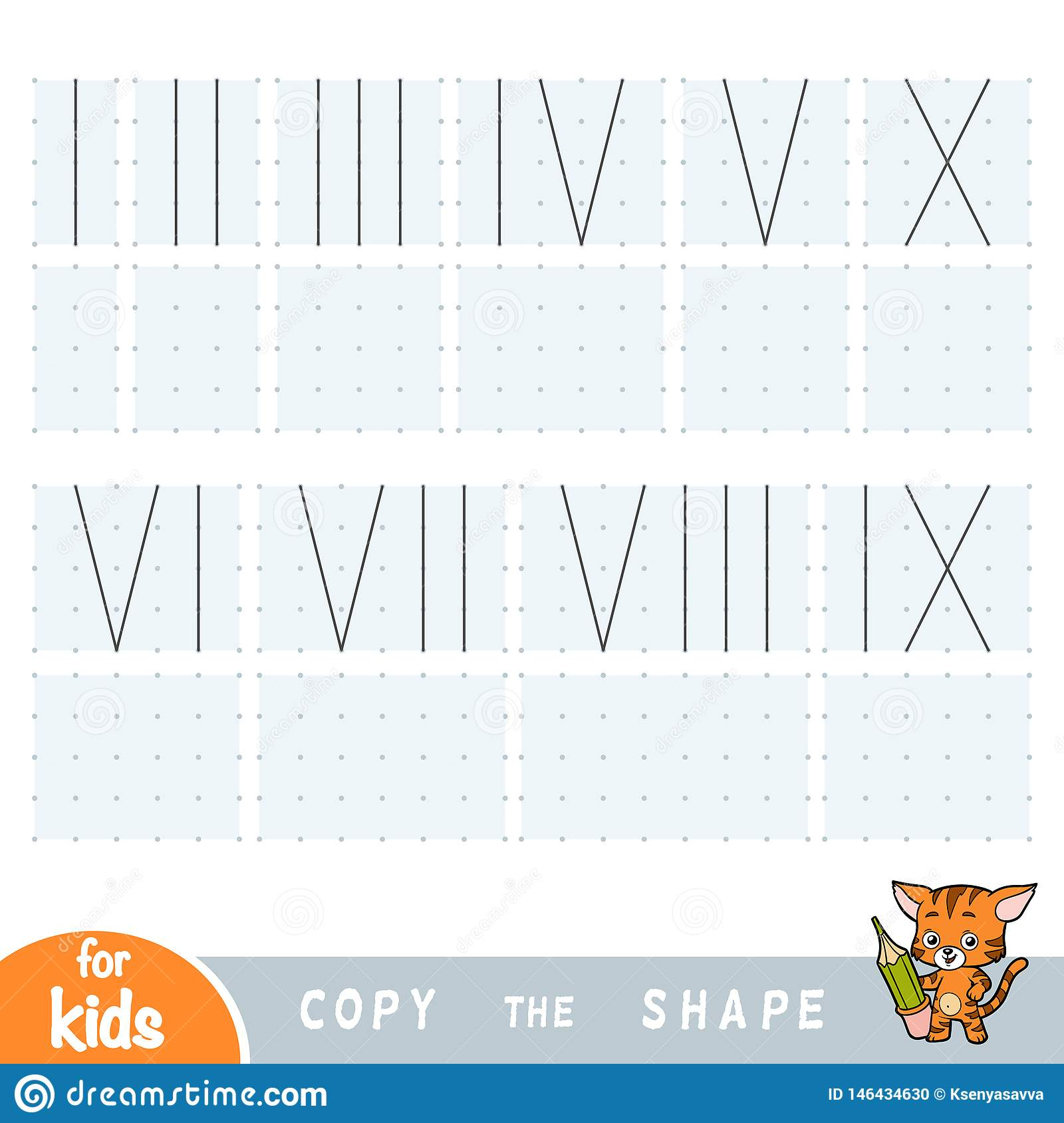 Copy The Picture Education Game For Children Draw Roman