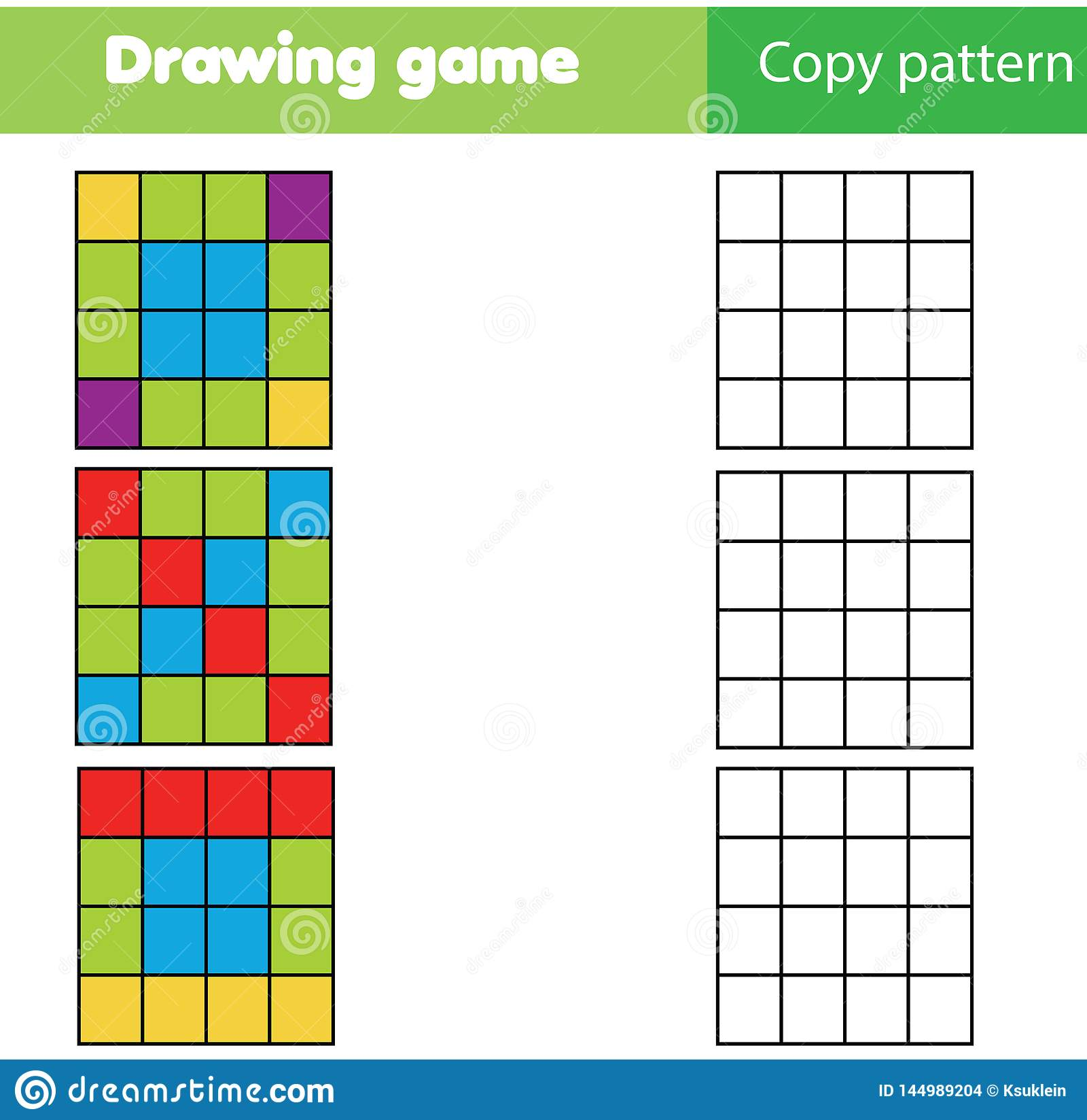 Copy Picture By Grid Educational Children Game Kids