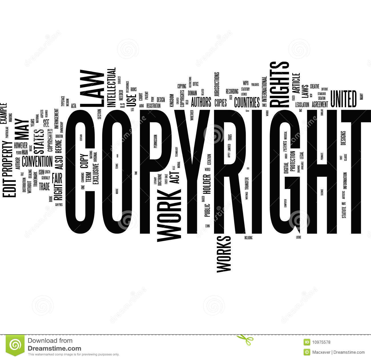 Copyright Words Stock Illustration Illustration Of