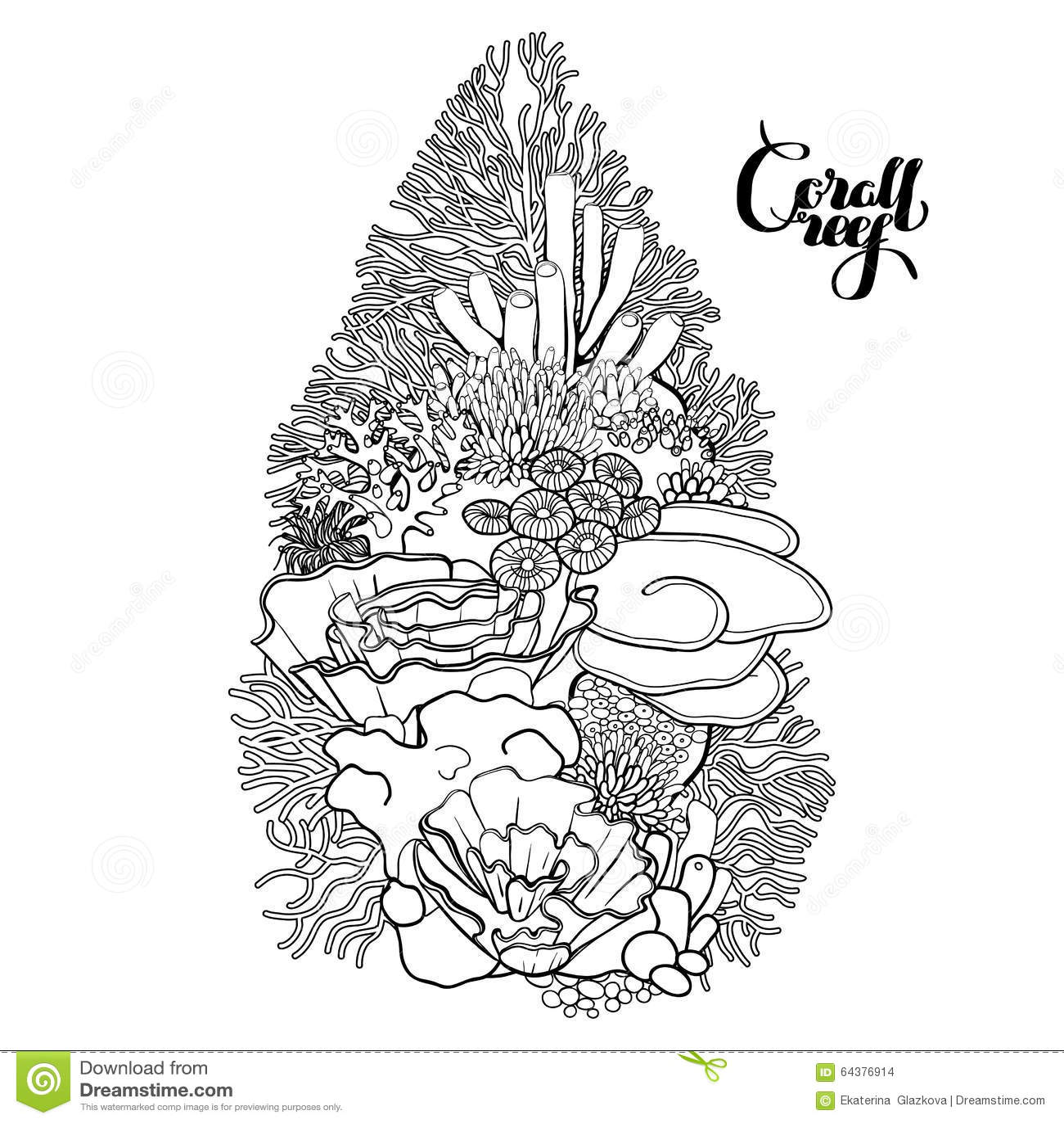 Coral Reef Design Stock Vector Illustration Of Decor