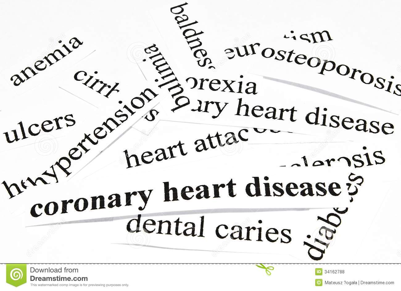 Coronary Heart Disease. Health Care Concept Of Diseases