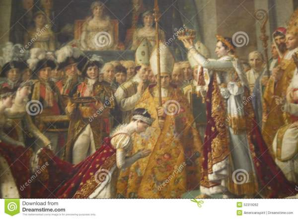 Coronation Of Napoleon Jacques Louis David 1808