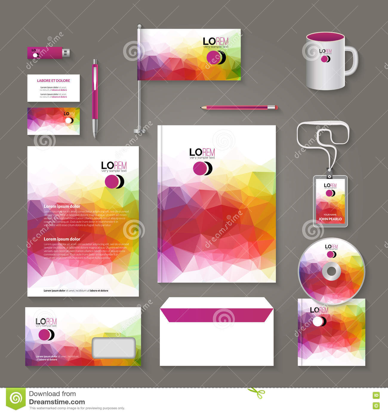 Corporate Brand Business Identity Design Template Layout Letter