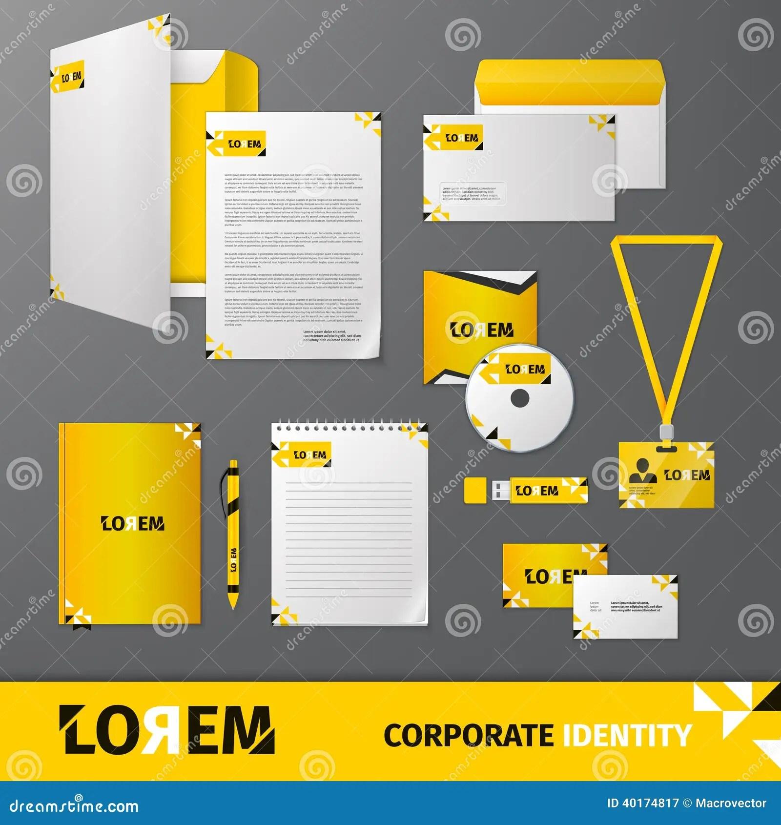 Corporate Identity Template Stock Vector Image 40174817