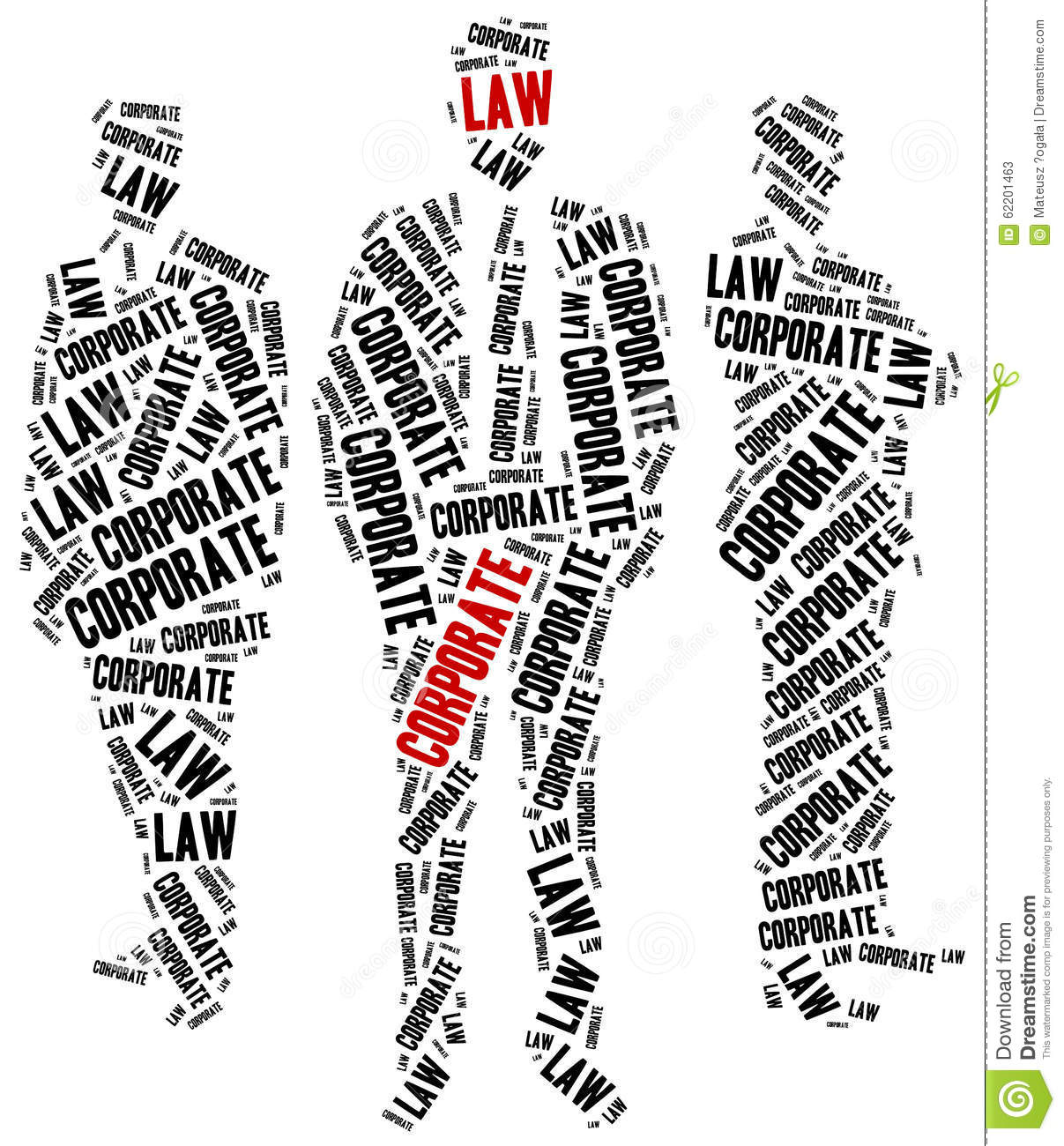 Corporate Law. Concept Related To Different Areas Of Law