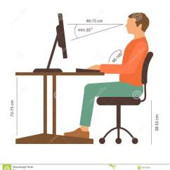 Posture Care Chair Company Prices Ergonomic With Adjustable Armrests Correct Stock Vector Illustration Of Desk