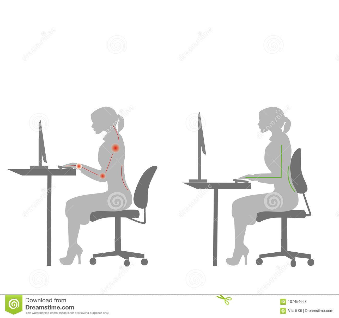better posture office chair spandex covers for sale cheap correct sitting at desk ergonomics advices workers how to sit