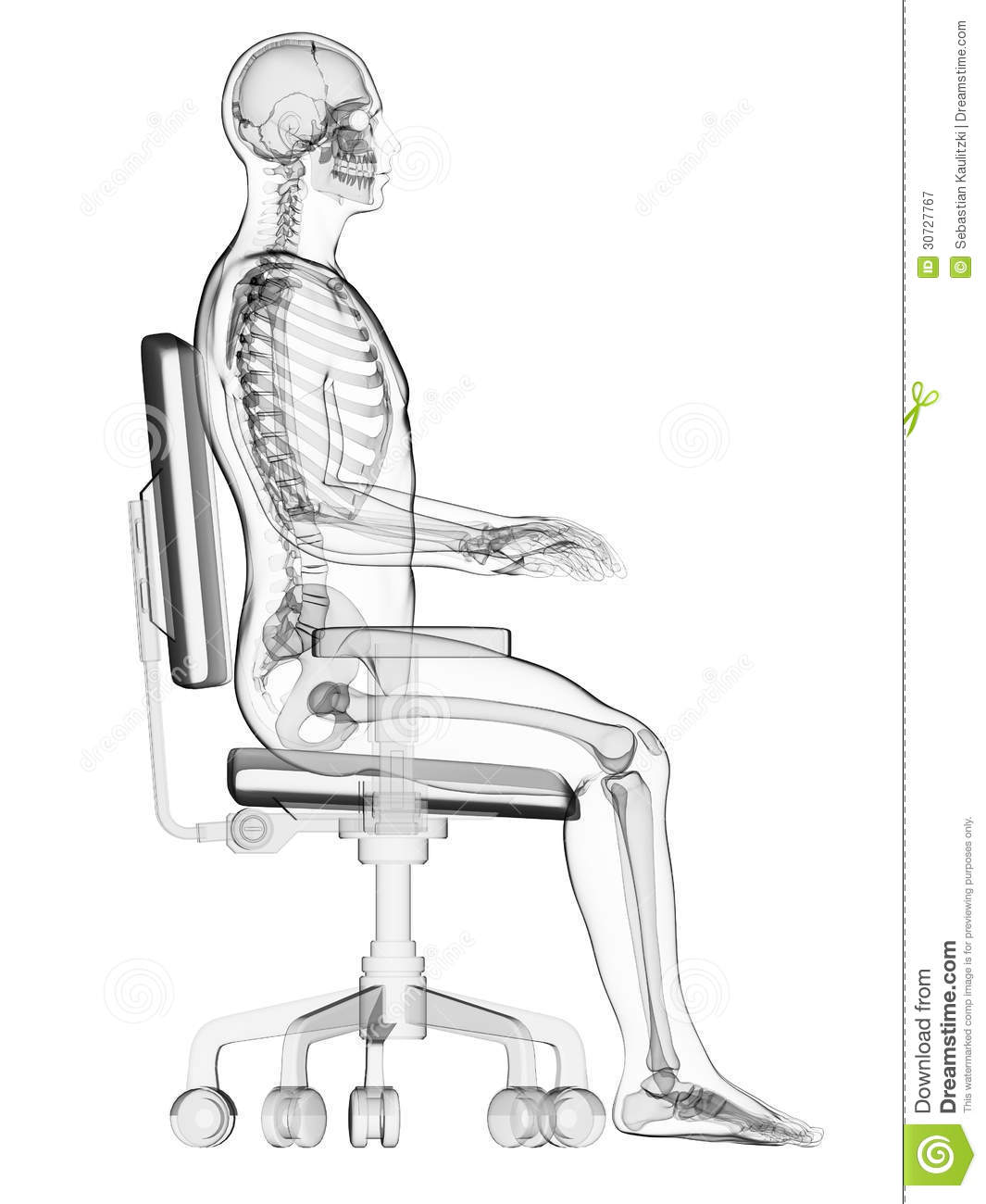 sitting posture on chair in office kid pedicure correct royalty free stock photography
