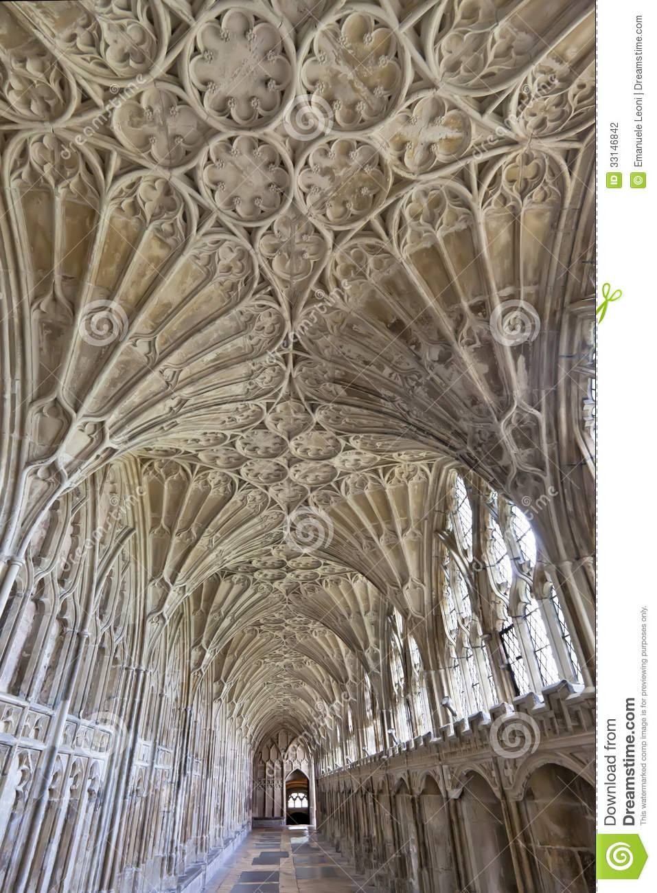 Corridor In The Cloisters At Gloucester Cathedral