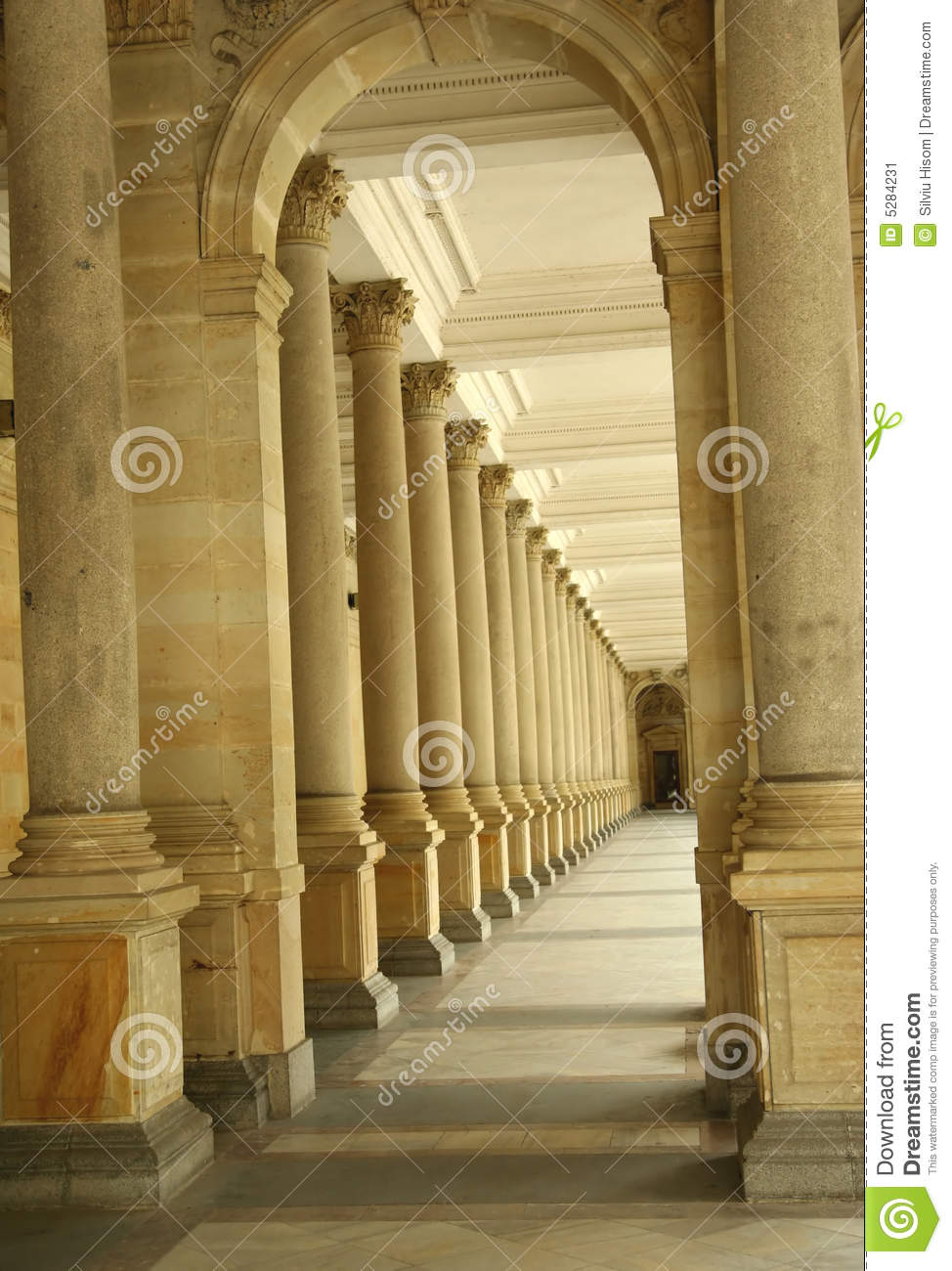 Abstract Fall Wallpaper Corridor Of Columns Hallway Stock Image Image 5284231
