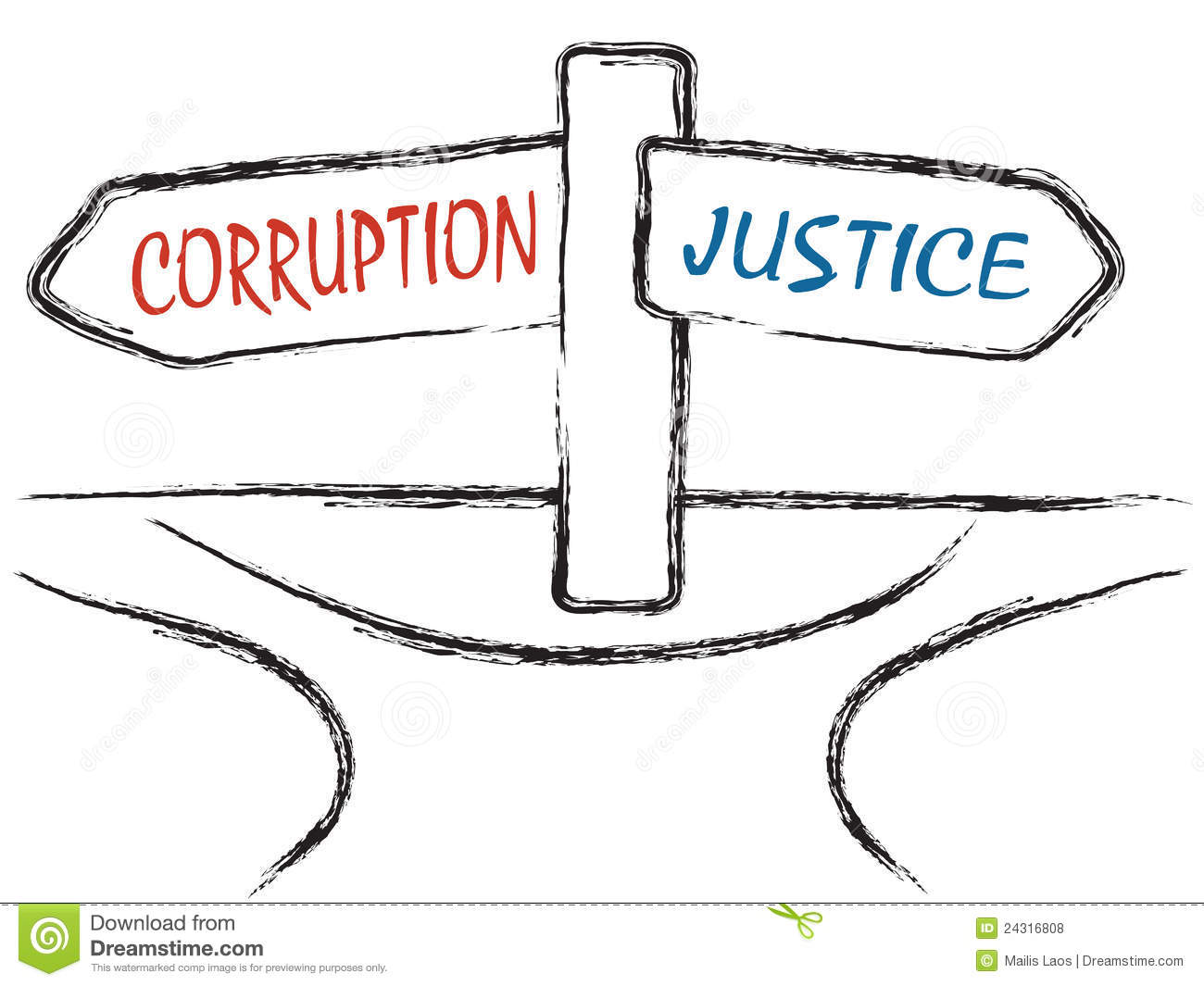 Corruption And Justice Royalty Free Stock Photos