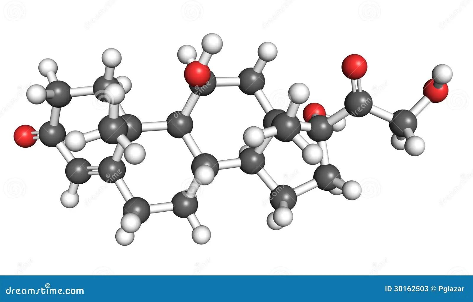 Cortisol Molecule Stock Illustration Illustration Of