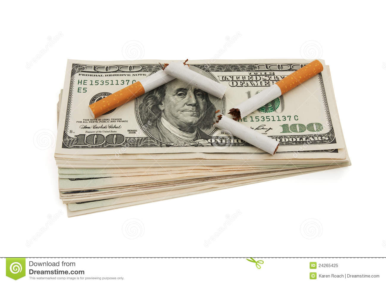 The Cost Of Smoking Stock Image Image Of Copyspace