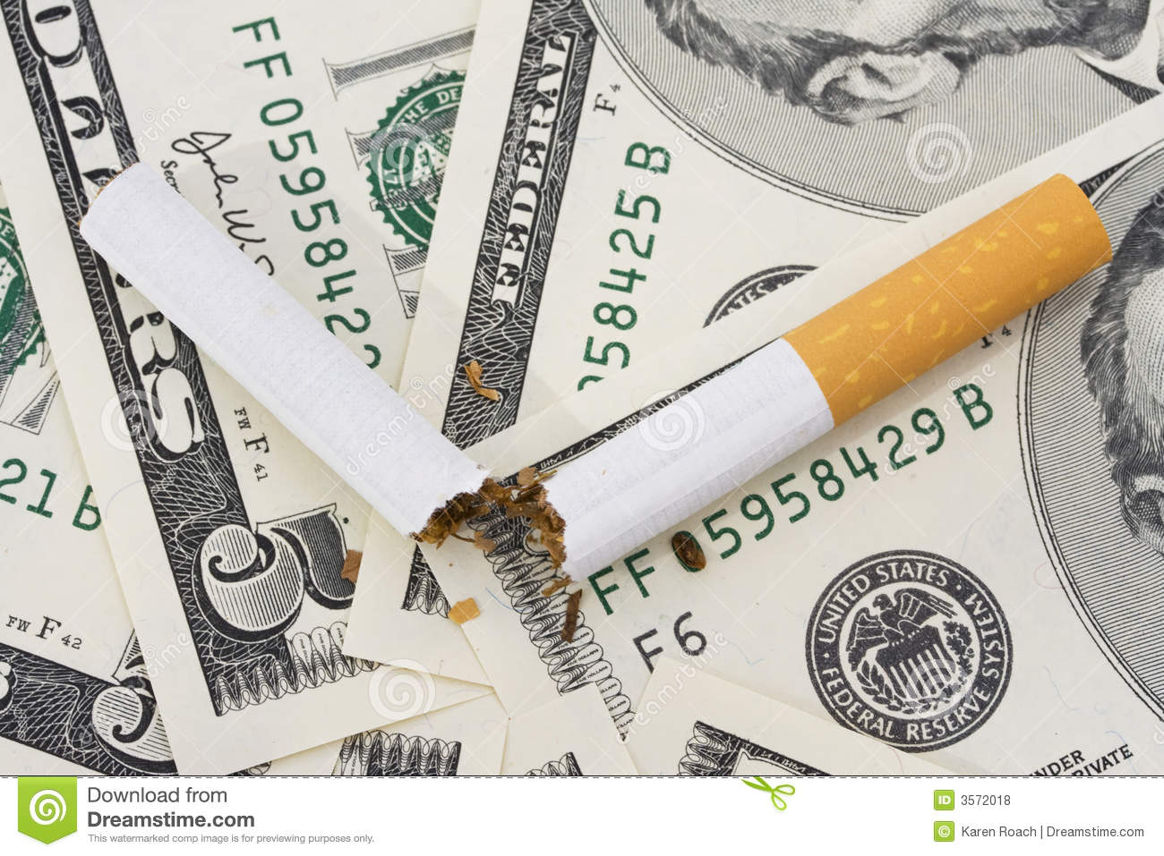 Cost Of Smoking Stock Photo Image Of Currency Addict