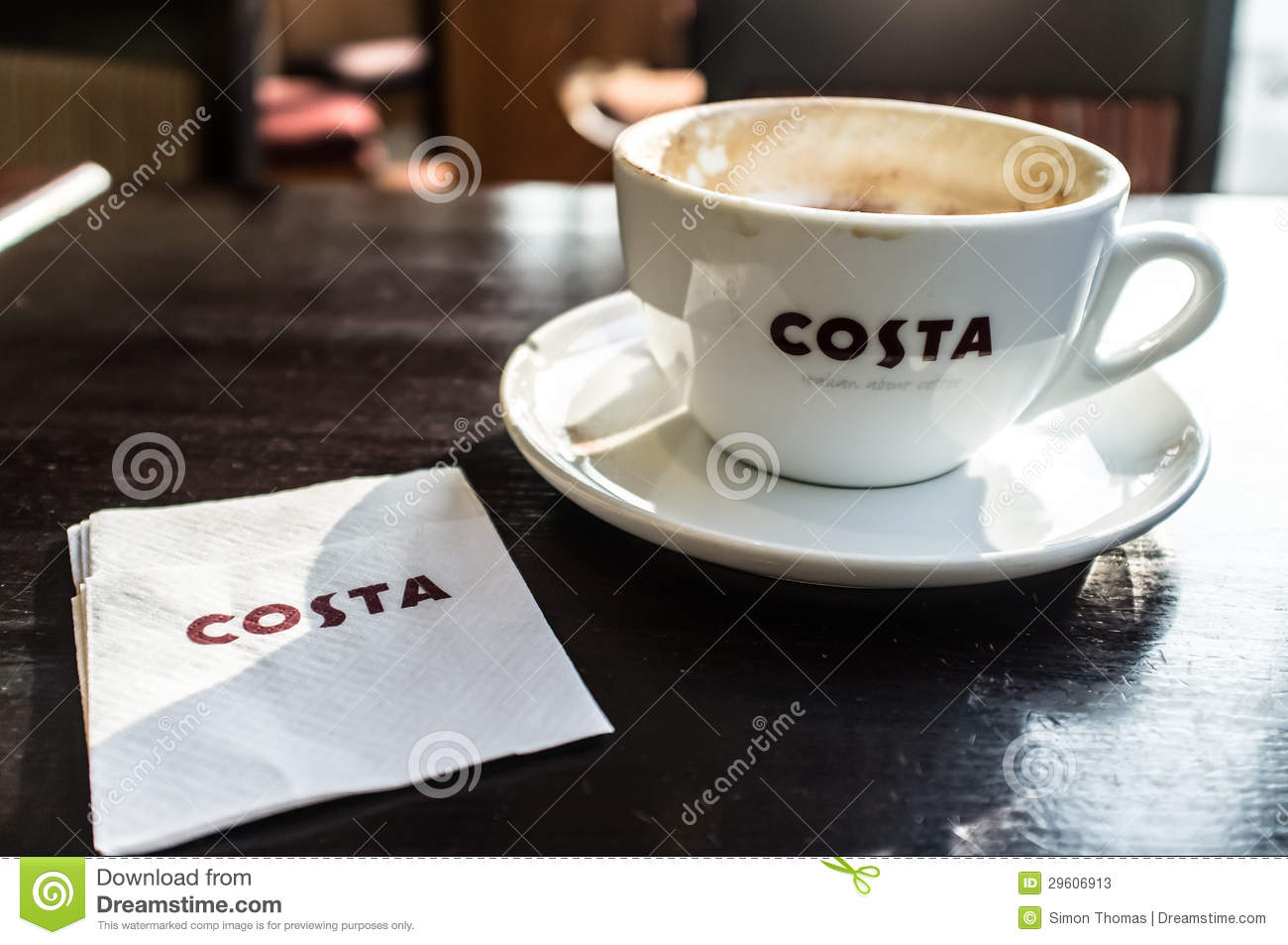 costa coffee editorial stock