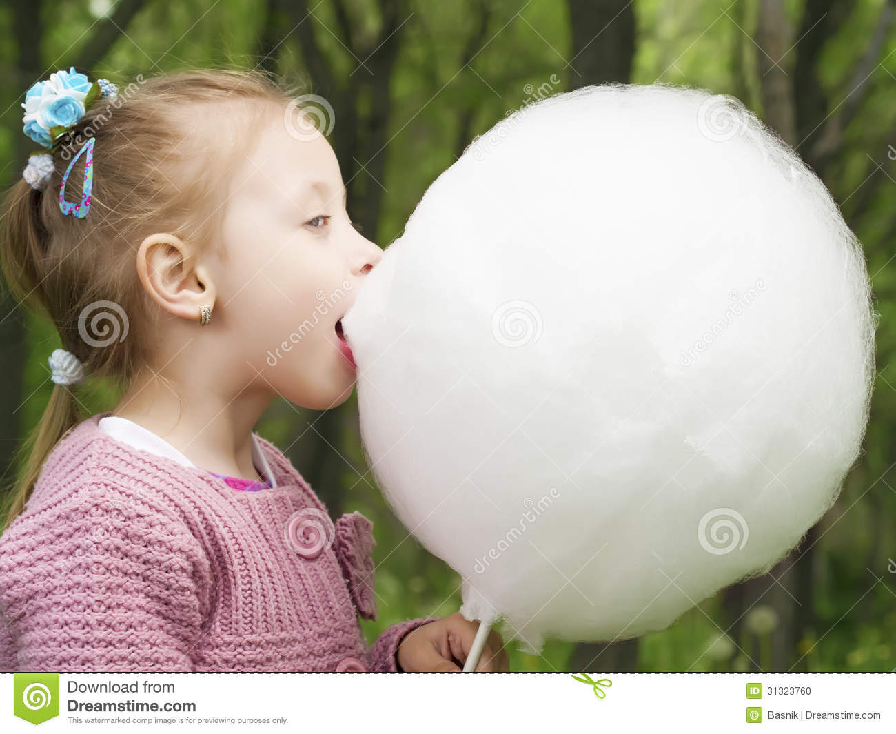 cotton candy eat stock