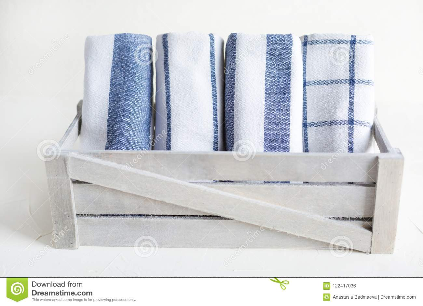 kitchen napkins vintage faucets cotton on the white concrete table scandynavian