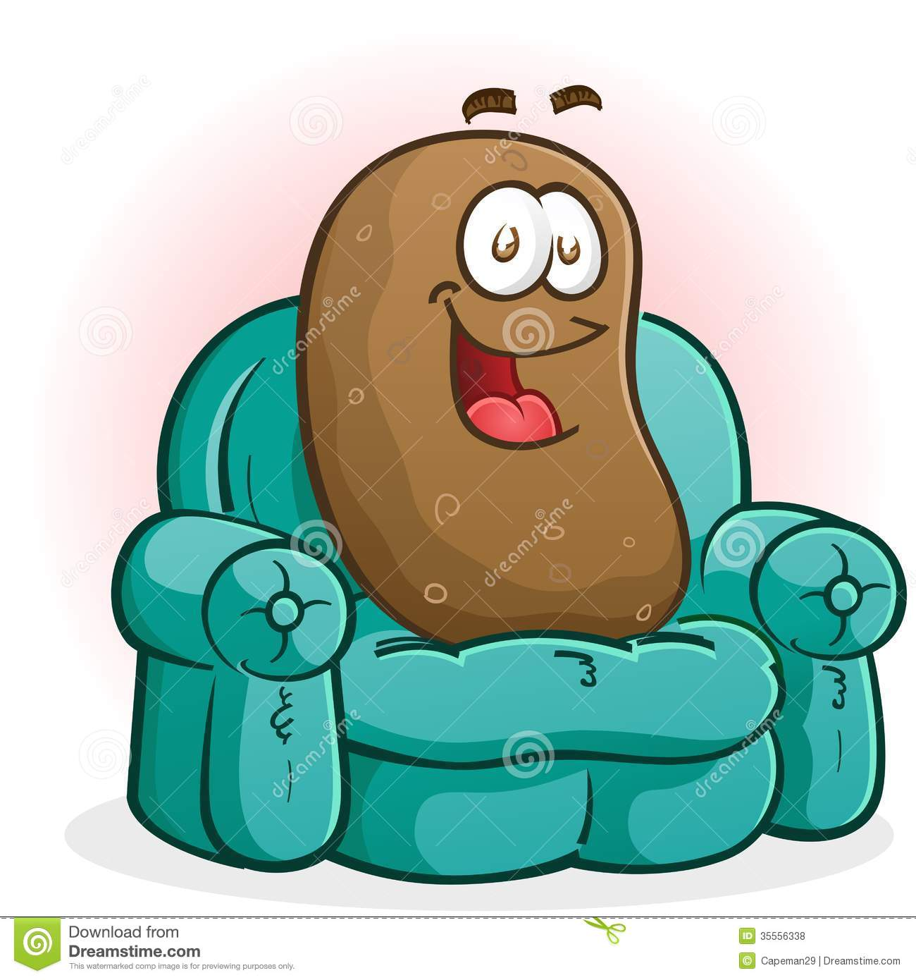 hight resolution of couch potato cartoon character