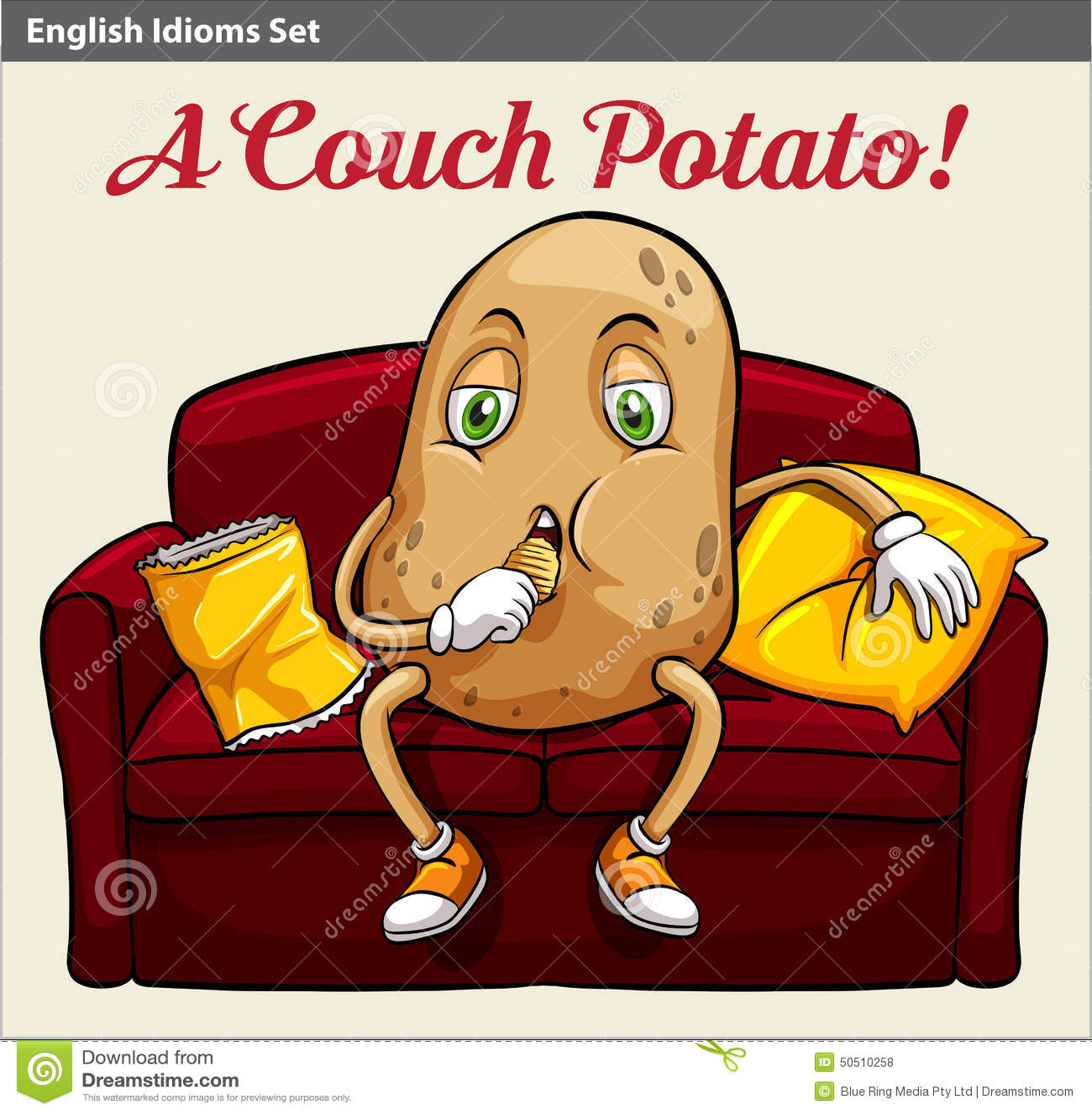 A Couch Potato Stock Vector Image 50510258