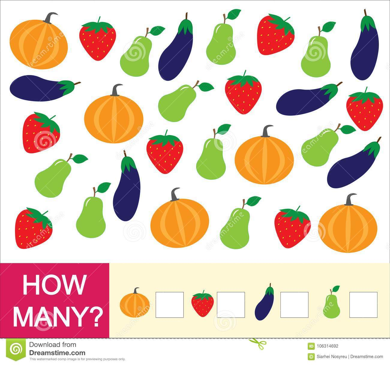 Count How Many Fruits Berries And Vegetables Pear